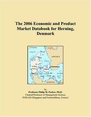 Cover of: The 2006 Economic and Product Market Databook for Herning, Denmark | Philip M. Parker