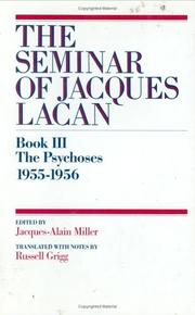 Cover of: The psychoses | Jacques Lacan