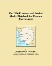 The 2006 Economic and Product Market Databook for Kenema, Sierra Leone