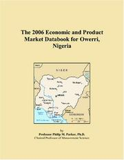 Cover of: The 2006 Economic and Product Market Databook for Owerri, Nigeria | Philip M. Parker