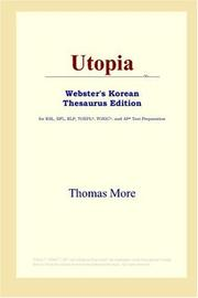 Cover of: Utopia (Webster's Korean Thesaurus Edition) | Thomas More
