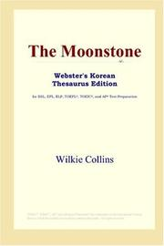 Cover of: The Moonstone (Webster
