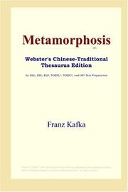 Cover of: Metamorphosis (Webster