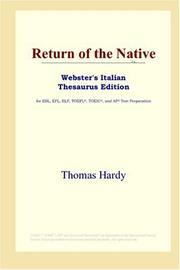 Cover of: Return of the Native (Webster