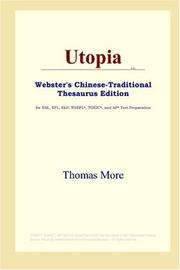 Cover of: Utopia (Webster's Chinese-Traditional Thesaurus Edition) | Thomas More