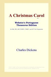 Cover of: A Christmas Carol (Webster's Portuguese Thesaurus Edition) | Charles Dickens