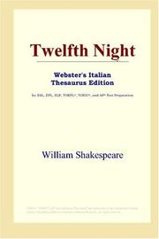 Cover of: Twelfth Night (Webster's Italian Thesaurus Edition) by William Shakespeare