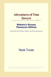 Cover of: Adventures of Tom Sawyer (Webster's Korean Thesaurus Edition) | Mark Twain