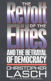 Cover of: The Revolt of the Elites