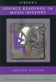 Cover of: Source readings in music history |