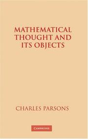 Cover of: Mathematical Thought and Its Objects | Charles Parsons