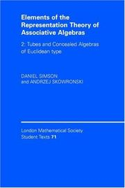 Cover of: Elements of the Representation Theory of Associative Algebras | Daniel Simson