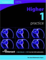 Cover of: SMP GCSE Interact 2-tier Higher 1 Practice Book (SMP Interact 2-tier GCSE) | School Mathematics Project.