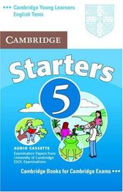 Cover of: Cambridge Young Learners English Tests Starters 5 Audio Cassette