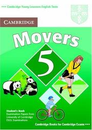 Cover of: Cambridge Young Learners English Tests Movers 5 Student Book
