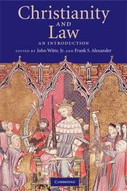 Cover of: Christianity and law