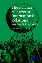Cover of: The Balance of Power in International Relations | Richard Little