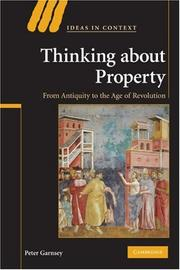 Cover of: Thinking about Property