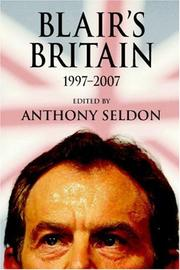 Cover of: Blair's Britain, 1997-2007