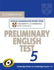 Cover of: Cambridge Preliminary English Test 5 Student's Book (PET Practice Tests)