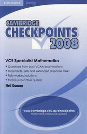 Cover of: Cambridge Checkpoints VCE Specialist Mathematics 2008