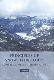 Cover of: Principles of Snow Hydrology | David R. DeWalle
