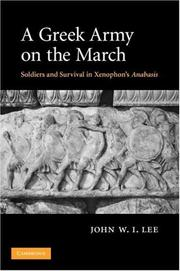 Cover of: A Greek Army on the March | John W. I. Lee
