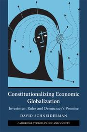Cover of: Constitutionalizing Economic Globalization