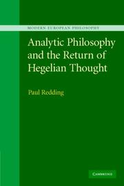 Cover of: Analytic Philosophy and the Return of Hegelian Thought (Modern European Philosophy)