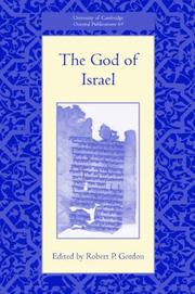 Cover of: The God of Israel (University of Cambridge Oriental Publications) | Robert P. Gordon