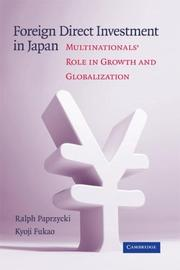Cover of: Foreign Direct Investment in Japan | Ralph Paprzycki
