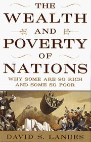 Cover of: The wealth and poverty of nations | David S. Landes