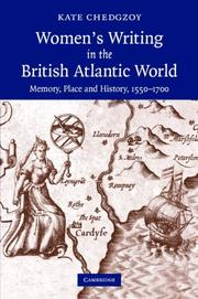 Cover of: Women's Writing in the British Atlantic World