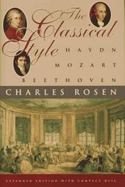 Cover of: The classical style | Charles Rosen