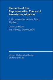 Elements of the Representation Theory of Associative Algebras, Volume 3: Representation-Infinite Tilted Algebras