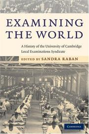Cover of: Examining the World | Sandra Raban