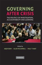 Cover of: Governing after crisis