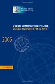 Cover of: Dispute Settlement Reports 2005 (World Trade Organization Dispute Settlement Reports) | World Trade Organization