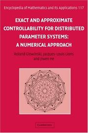 Cover of: Exact and Approximate Controllability for Distributed Parameter Systems | Roland Glowinski