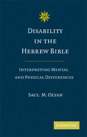 Cover of: Disability in the Hebrew Bible