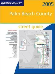 Cover of: Rand McNally 2005 Palm Beach County, Florida | Rand McNally