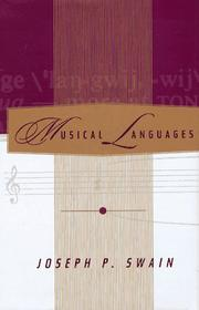 Cover of: Musical languages
