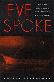 Cover of: Eve spoke | Lieberman, Philip.