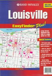 Cover of: Rand McNally Louisville, Ky Easyfinder Plus Map |