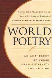 Cover of: World poetry