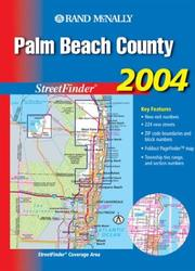 Cover of: Streetfinder - Palm Beach County (Rand McNally Palm Beach County Street Guide) | Rand McNally
