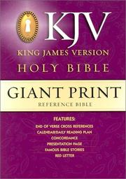 Cover of: KJV Giant Print Reference Bible |