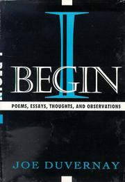 Cover of: I BEGIN