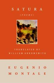 Cover of: Satura | Eugenio Montale