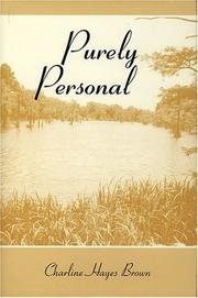 Cover of: Purely Personal | Charline Hayes Brown